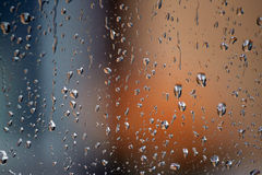 Drops on glass. Rain drops on the glass royalty free stock images