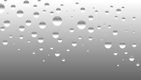 Drops on glass or metal Royalty Free Stock Photo