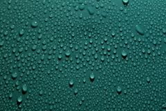 Drops on the green background Royalty Free Stock Photography