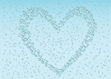 Drops_heart_background Royalty Free Stock Images