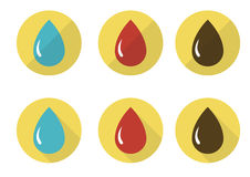 Drops icon set Royalty Free Stock Photography