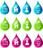 Drops icons Royalty Free Stock Images