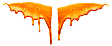 Drops of ketchup Stock Images