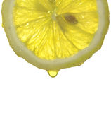 Drops of lemon juice. Some drops of lemon juice Stock Images