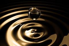 Drops of liquid gold Stock Image