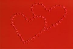 Drops of Love. Hearts vector illustration