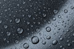 Drops on a metal surface Stock Photography