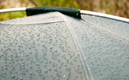 Drops of morning dew on tent surface Royalty Free Stock Photo