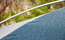 Drops of morning dew on tent surface Stock Photography