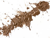 Drops of mud sprayed Stock Image
