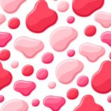 Drops of nail polish seamless pattern. Fashionable illustration for manicure salons Stock Images