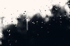 Free Drops Of Water On Glass With A Black Mourning Background Stock Photos - 172595413