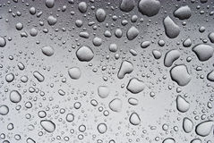 Drops On A Grey Background Royalty Free Stock Photography