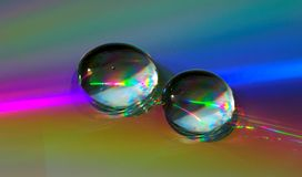 Free Drops On CD-disk Stock Photos - 1031933