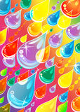 Drops On Rainbow Stock Images