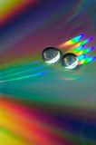 Drops On The CD-disk Royalty Free Stock Photos