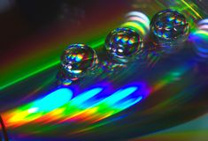 Free Drops On The CD-disk Royalty Free Stock Image - 1032016