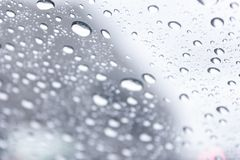 Drops. On the outside of window Stock Photography
