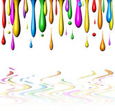 Drops of Paint-1. A stylised 3d Paint Drops Background Royalty Free Stock Photos