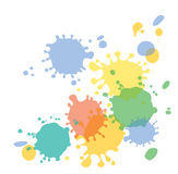Drops of paint Royalty Free Stock Image