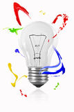 Paint hover around the light bulb Stock Photo