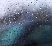 Drops of rain on the car glass Royalty Free Stock Photography