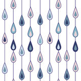 Drops of rain. Drawing of pattern with semiabstract drops of rain royalty free illustration