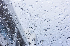 Drops of rain on glass , rain drops on clear window. Drops of rain on glass , rain drops on clear window Stock Images