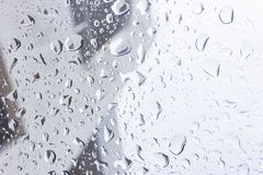 Drops of rain on glass , rain drops on clear window. Drops of rain on glass , rain drops on clear window Royalty Free Stock Photo