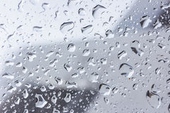 Drops of rain on glass , rain drops on clear window. Drops of rain on glass , rain drops on clear window Royalty Free Stock Photography