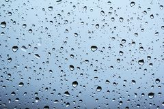 Drops of Rain on the Glass Window Royalty Free Stock Image