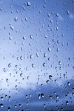 Drops of rain on the window. Drops of water on the window Stock Images