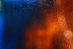 Drops of rain on the window of the car in the evening Royalty Free Stock Photography