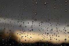 Drops of rain on the window Stock Photography