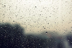 Drops of rain on the window. Royalty Free Stock Photo