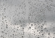 Drops of rain on the window Royalty Free Stock Photos