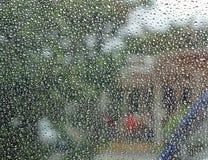 Drops of Rain on a Window Stock Photos
