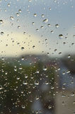Drops of rain on the window Royalty Free Stock Image