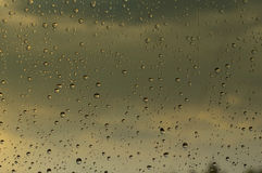 Drops of rain on the window Royalty Free Stock Photography