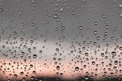 Drops of rain on the window royalty free stock images