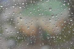 Drops of rain on the window, rainy day Royalty Free Stock Image
