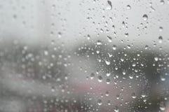 Drops of rain on the window, rainy day Royalty Free Stock Photos