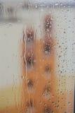 Drops of rain on the window Royalty Free Stock Photos