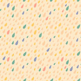 Drops seamless pattern on light background Royalty Free Stock Image