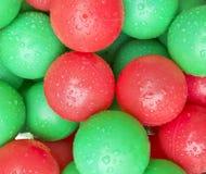 Drops On Soft Plastic Ocean Balls Stock Photos