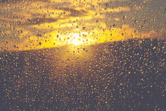 Drops sunset Stock Photography