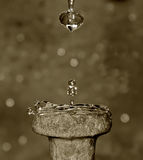 Drops of time. Counting the second... in an original way Stock Photography