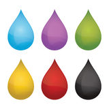Drops. Vector illustration. Drops isolated on white background. Vector illustration Royalty Free Stock Images