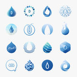 Drops. Vector logo templates set Stock Photos
