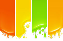 Drops, vertical banner. Set of banners, drop, mesh Stock Photography